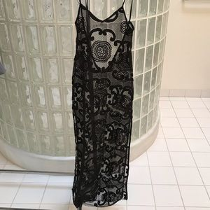 Out from Under Lace Maxi Dress with Side Slits